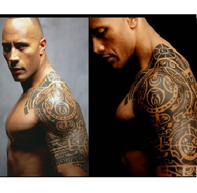 the-rock-Dwayne-Johnson-polynesian-tattoo-pattern