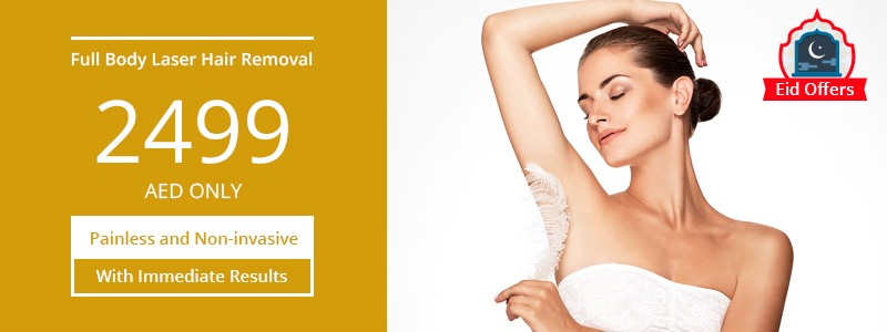 Full Body Laser Hair Removal 2499 AED