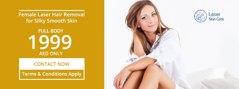 Full Body Female Laser Hair Removal 1999 AED Only