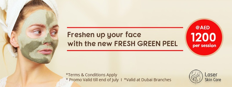 Freshen up your face with the new FRESH GREEN PEEL 1200 AED
