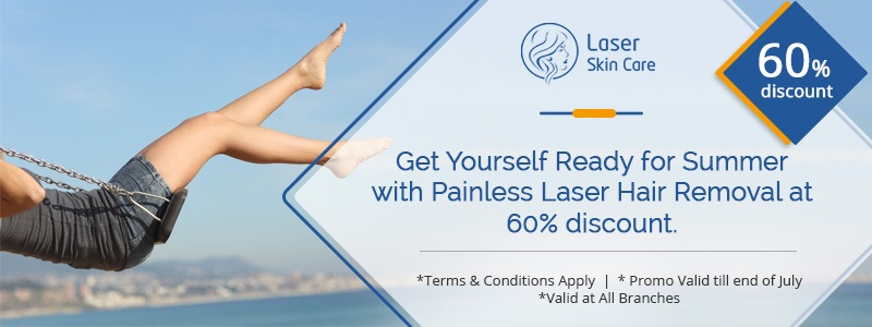 Ready for the Summer with Painless Laser Hair Removal at 60% Discount