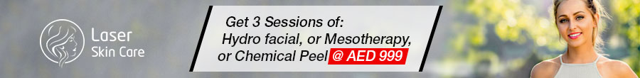 Get 3 Sessions of Hydrofacial, Mesotherapy & Chemical Peel AED 999 Only