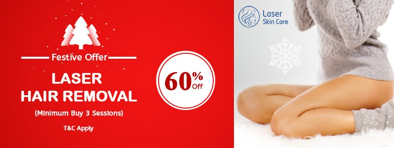 Festive Offer Laser Hair Removal 60% Special Off